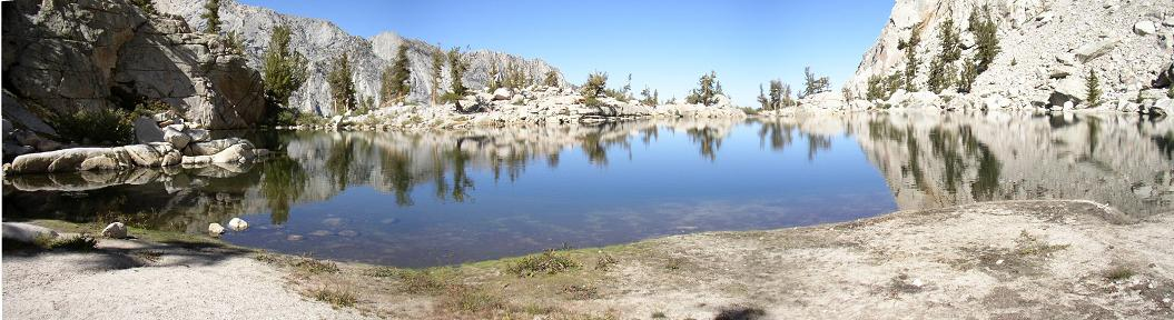 Mirrorlike Reflections in Lone Pine Lake.