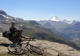 Mountain Biking above Val d'Isere, France